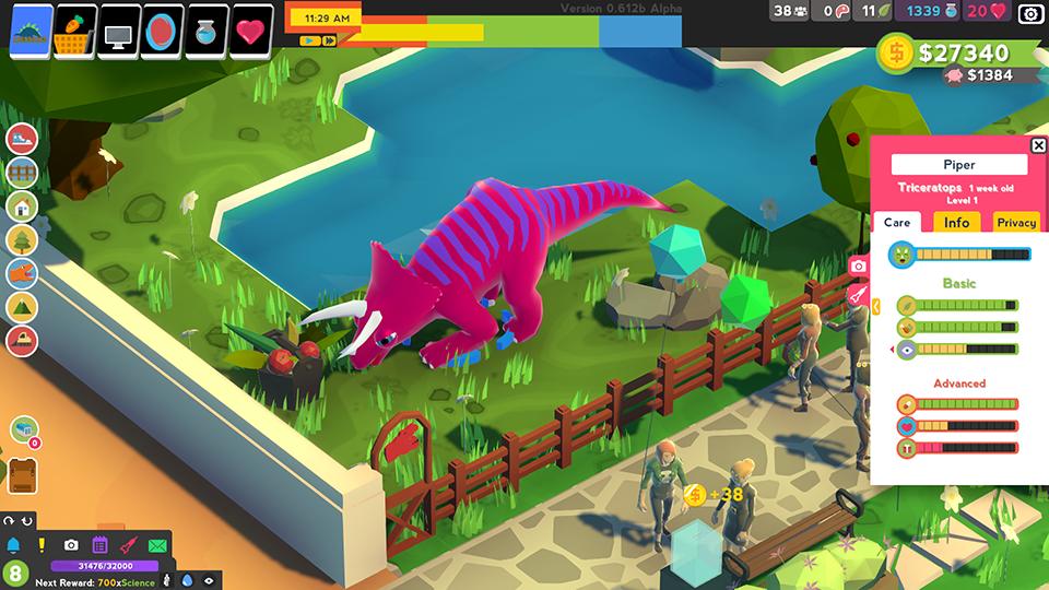 Parkasaurus dinosaur needs and exhibit design.